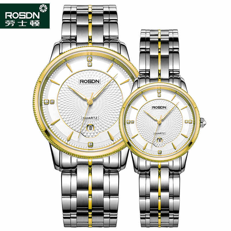 ROSDN 2016 Watches Women Luxury Brand Quartz Watch Men Full Steel Wristwatches Dive 50m Fashion couple