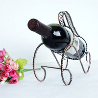 2pcs Antique Bronze Wine Rack Creative Red Wine Rack Handle Wine Holder for Beer Bottle Shelf Wine Hanger Bar Hotel Decoration