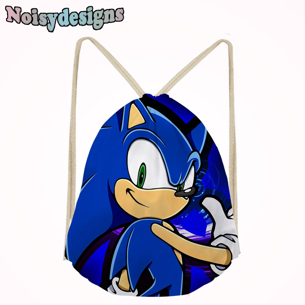 9da47fd2a776 US $7.2 40% OFF|Cartoon Boys School Drawstring Bag 3D Famous Sonic the  Hedgehog Game Printed School Backpack Storage Bags Small Men's Backpack-in  ...