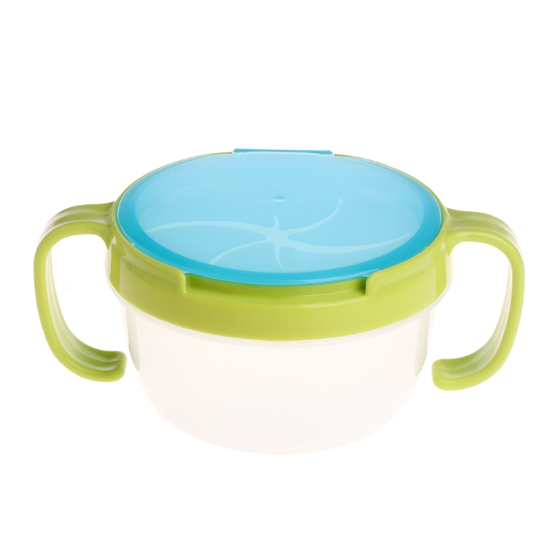1 Set Baby Spill-Proof Bowl Cup Dish Infant Snack Bowls Food Container Feeding Assist Food Hot