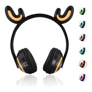 Image 3 - JINSERTA Cat/Rabbit/Deer/Devil Ear Headphones 7 Color LED Flashing Glowing Wireless Bluetooth Headphone For Cosplay Kids Gaming