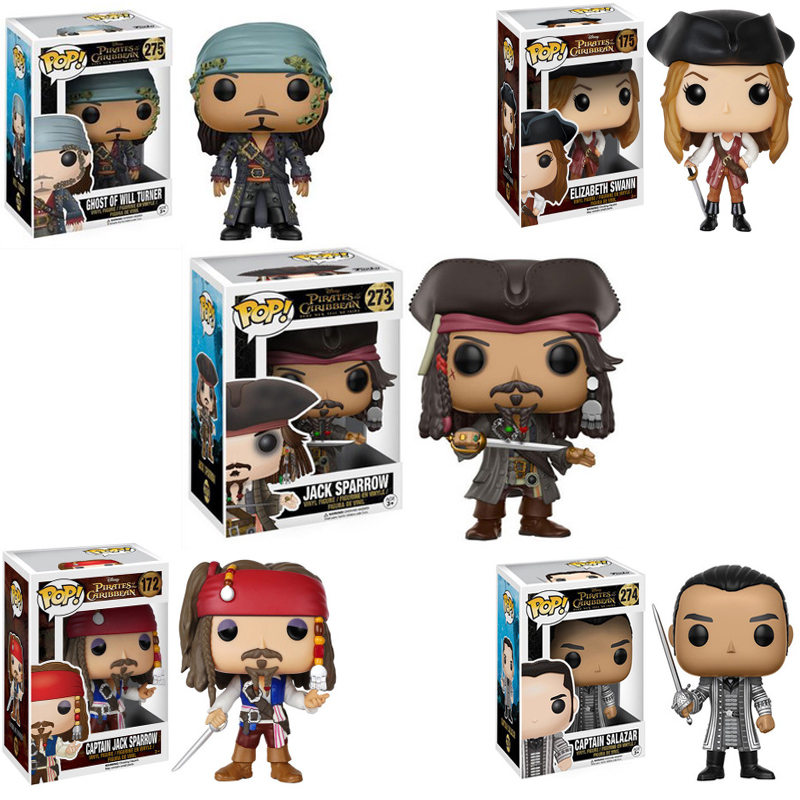 FUNKO POP Pirates Of The Caribbean JACK Movie Figure Anime Model Pvc Collection Toys For Children Gift