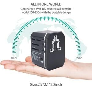 Image 2 - Rdxone adaptateur de voyage universel tout en un adaptateur secteur prises électriques murales prises pour téléphone portable, tablette, appareil photo, ordinateur portable