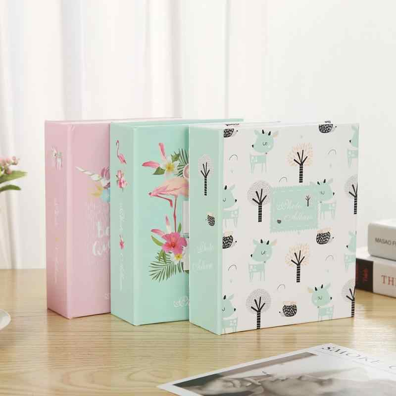 1PCS  100 Sheets Cartoon Photo Album Scrapbook Kids Birthday Memory Book Gifts