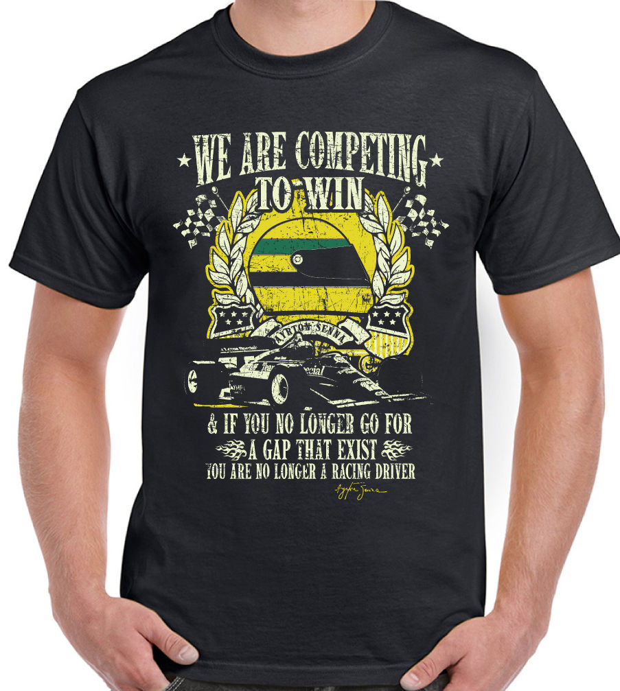 Ayrton Senna Quote - Mens T-Shirt Quality T Shirts Men Printing Short Sleeve O Neck T Shirt Five Colors