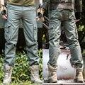 Hombres Del Ejército de Carga Pantalones de Calidad 100% Algodón Overoles Pantalones Casuales pantalones Tácticos Pantalones Cargo Militar de Color Caqui Negro