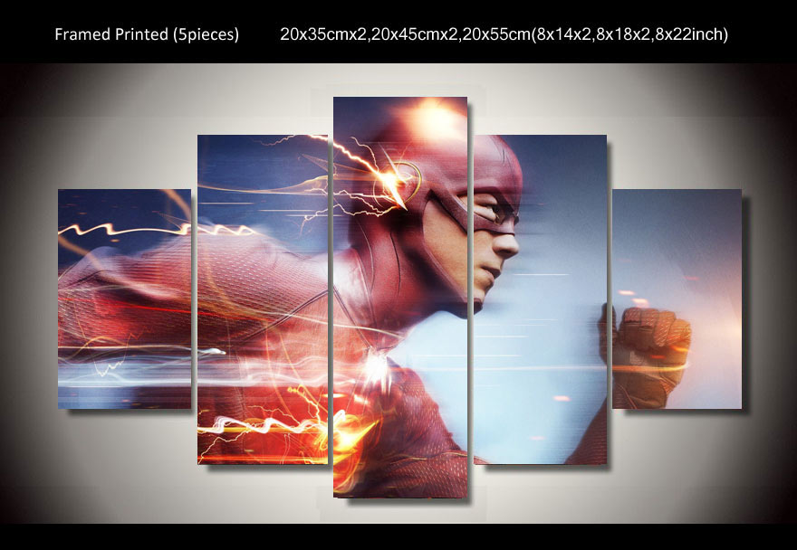 2016 Fallout High Quality Framed Flash Superhero Running 5 Piece ...