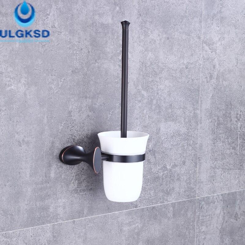 Ulgksd Bathroom Toilet Brush Wall Mounted Oil Rubbed Bronze Bathroom Ancessories Bath Toilet Brush