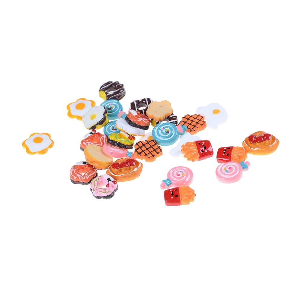 Dirt Cheap Decor Play Kitchen And Food Diy: 5pcs/lot Craft Mini Poached Eggs Food Ornament Simulation