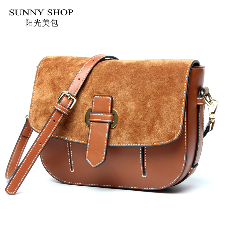 fed1f4228010 ... SUNNY SHOP 2017 New Vintage Small Women Messenger Bags Brand Designer Genuine  Leather Women Bag Real ...
