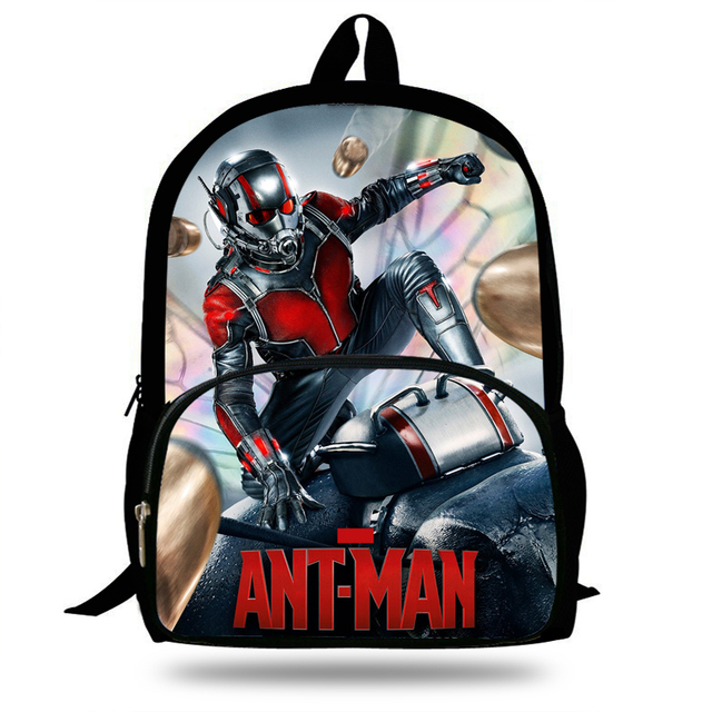 16inch Cool School Bags Boys Marvel Avengers Antman Backpack For Teenagers  Bag Gift Girls Student Bookbag afc0ab894b469