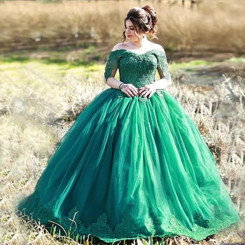 Elegant evening   Dresses   appliques lace tulle Ball Gown off shoulder   prom     dress   women formal party   dress   2019 vestido de festa