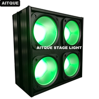 8pcs Stage studio lighting rgb dmx led blinders 4eyes dmx rgb led spotlight cob led blinder matrx light wash