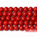 Frete grátis Natural Red Turquesa Pedra Redonda Solto Spacer Beads 4 6 8 10 12mm Escolha Tamanho TB03