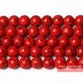 Бесплатная доставка круглой Свободные Spacer красный Turquesa каменные бусы 4681012 мм Палочки Размеры TB03 - фото