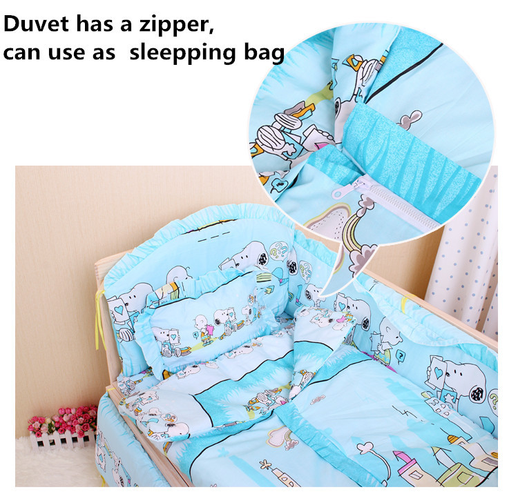 Promotion! 6PCS With Filler Baby crib bedding set cot bedding sets baby bed set bedding,unpick(3bumpers+matress+pillow+duvet) promotion 6pcs duvet baby bedding set 100% cotton curtain crib bumper baby cot sets baby bed 3bumpers matress pillow duvet