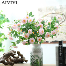 Foreign trade excellent product artificial flower bouquet rose fake silk wedding tabel home party decoration