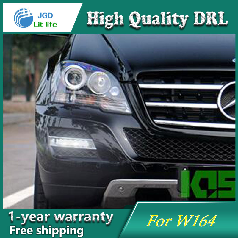 Free shipping ! 12V 6000k LED DRL Daytime running light case for Mercedes Benz ML350 W164 2005-2009 fog lights free shipping 12v 6000k led drl daytime running light case for mercedes w164 gl320 gl350 gl420 gl450 gl550 2006 2007 2008 2009
