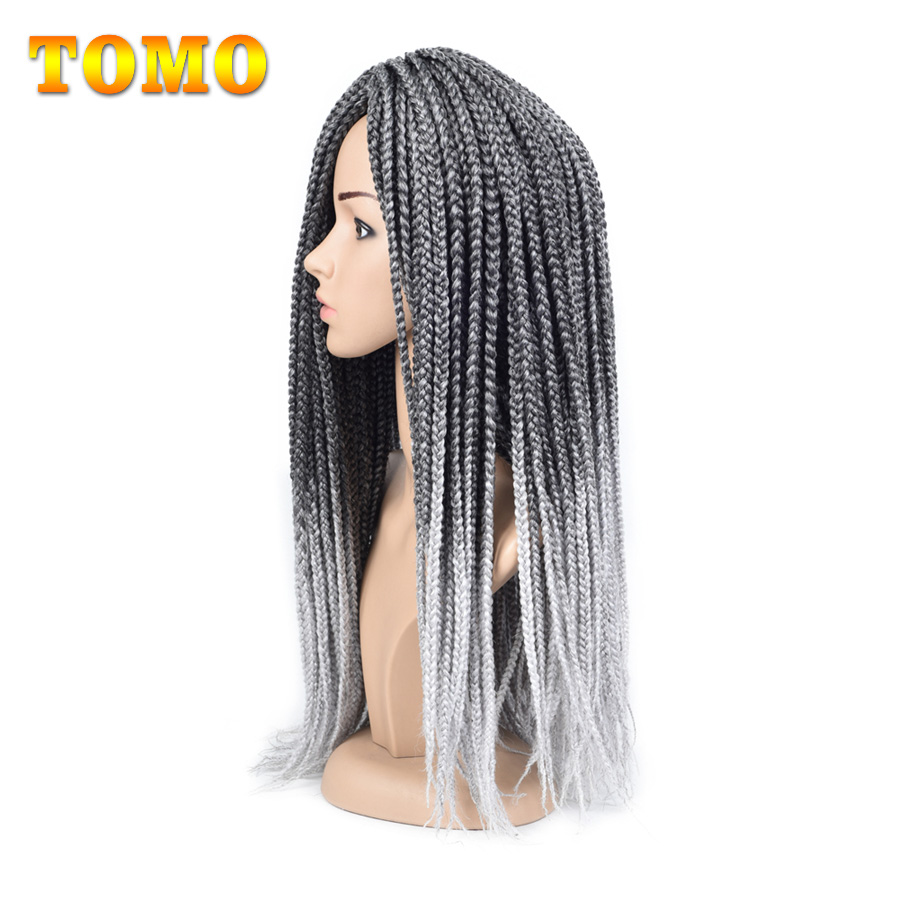Hair Extensions & Wigs Tomo 14 18 22 Medium Box Braid Crochet Extensions High Temperature Fiber Synthetic 1pack/lot Crochet Braids 22roots/pack Easy And Simple To Handle