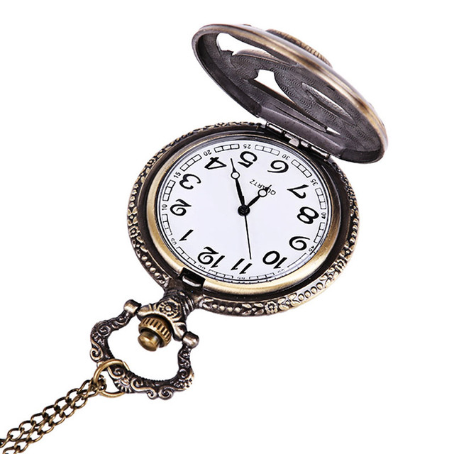 #5001 Fashion Creative Man Watch Vintage Chain Retro The Greatest Pocket Watch Necklace For Grandpa Dad Gifts