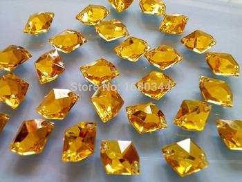 Światła złoty żółty kolor szyć na kryształowe 21*16mm kosmiczny kształt flatback kamienie szlachetne akryl dżetów strass diament 80 sztuk/partia