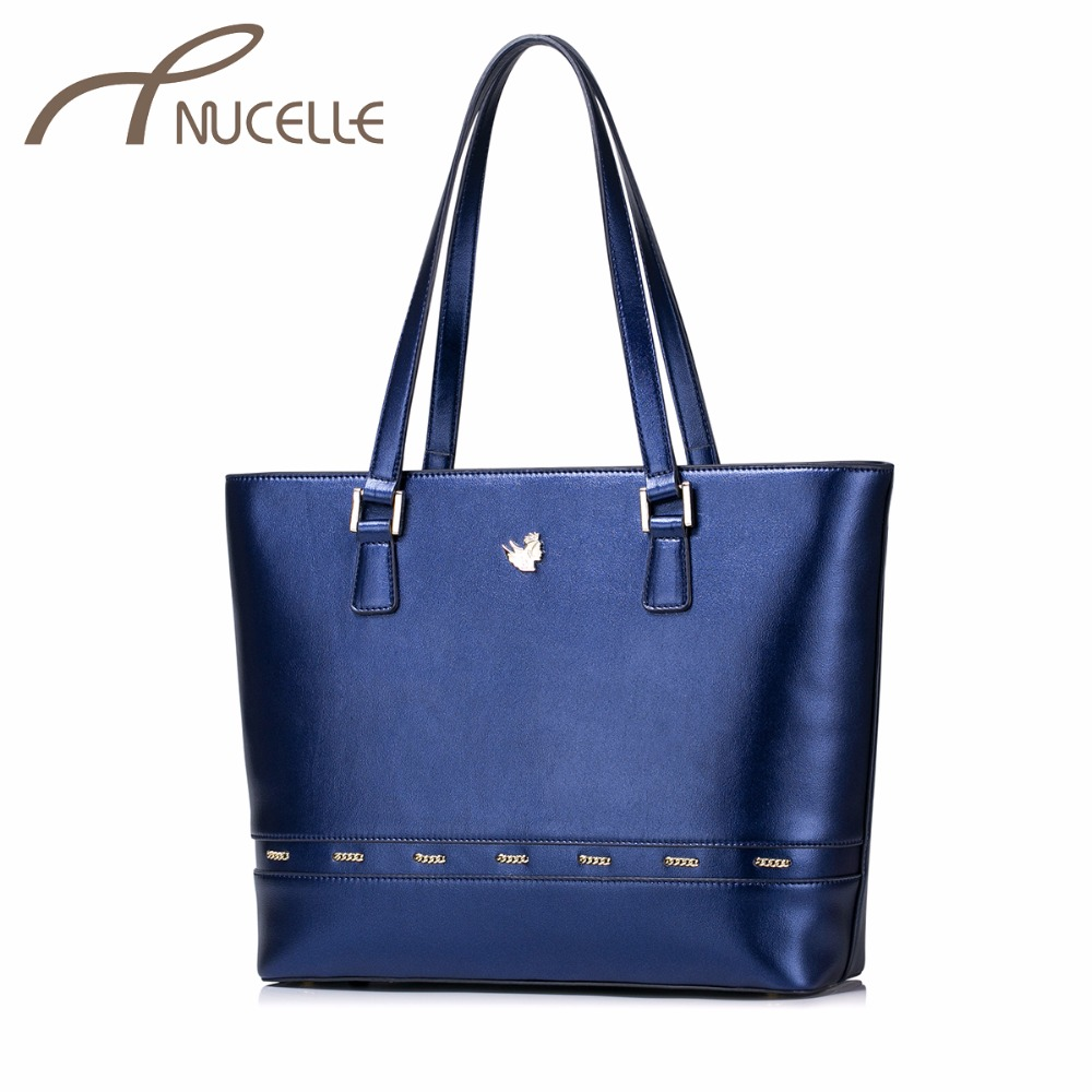 NUCELLE Women PU Leather Handbags Ladies Fashion Chain Tote Purse Female All-match Large Capacity Leisure Shoulder Bags NZ4947