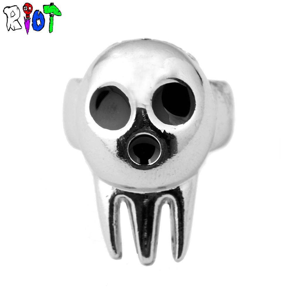 anime SOUL EATER The skeleton ghost sign ring Personality of fashion alloy rings men jewelry finger bague Unisex accessories