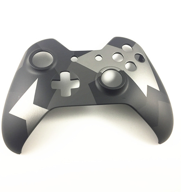 Camo Gray Camouflage Front Faceplate Limited Edition Housing Top Front Shell Case for Xbox One Wireless Controller Replacement