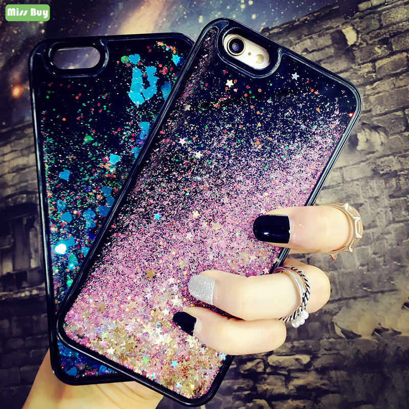 Glitter Liquid Sand Quicksand Star Case for <font><b>Xiaomi</b></font> <font><b>mi</b></font> 5 5C A1 A2 <font><b>mi</b></font> 8 9 SE <font><b>Mix</b></font> 2 <font><b>2s</b></font> Max 2 Remi Note 5 4 4x 4A 5A 5 Plus <font><b>Fundas</b></font> image