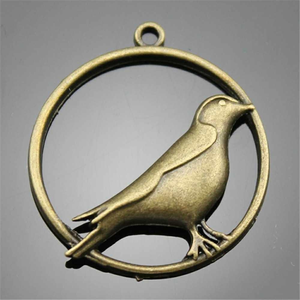 5 Pcs Burung Elang Merak Flamingo Liontin Charm Perhiasan Aksesoris Antik Perunggu Warna Pesona Perhiasan Aksesoris