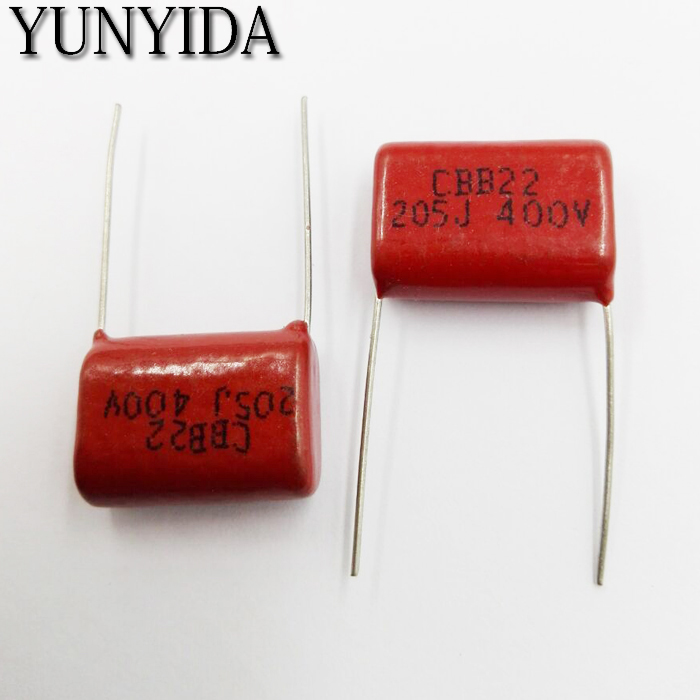 Free Shipping 10pcs, CBB 205J  400V  2UF  P20mm  Metallized Film Capacitor