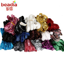 5yards/Bag Width 10mm Velvet Ribbon Belt Headband Accessories Lace Fabric For Dress Skirt Clothing Decoration DIY Craft Making(China)