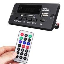 5v/12v Car Bluetooth Decoder Board TF Radio MP3 Decoder Board PCBA Audio Module for Car Remote Music Speaker USB Power Supply bluetooth mp3 decoder with bluetooth v3 0 speaker decoder board audio module support usb tf card for mobile phone music play