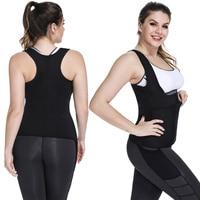 Neoprene Sauna Sweat Vest Waist Trainer Corset for Weight Loss Women Body Shaper Cincher Tank Top Sport Girdle Tummy Shaper