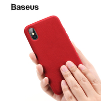 Baseus Luxury Phone Case For iPhone X Xs Extreme Touch Smooth Fiber Phone Case For iPhone Xs Xs Max 2018 Back Cover Coque [category]