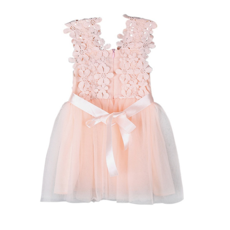 Baby Girls Dress Party Lace Tulle Flower Gown Fancy Dridesmaid Dress Sundress Girls Dress