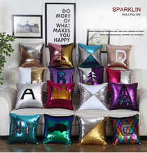 Magic Pillowcase Sequins Throw Pillow Mermaid 40 40cm Cushion Cover Decorative Reversible Sequin Pillowcover for Sofa