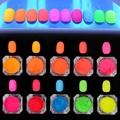 1 Box Neon Phosphor Powder Nail Gradient Pigment Powder 10 Colors Manicure Nail Art Decoration Accessories