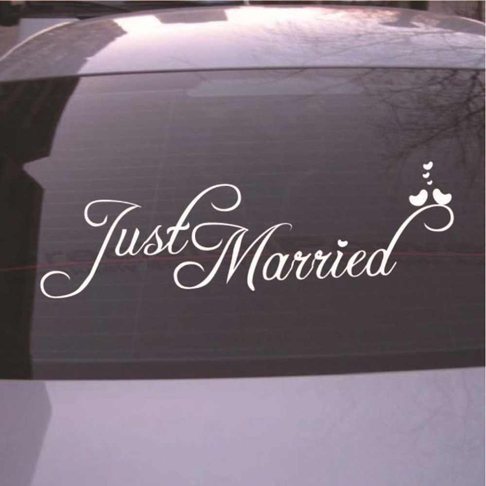Just married sign wedding day car sticker decorations window banner decal pvc