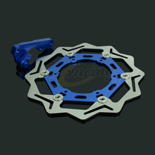 Big discount CNC 270MM Motorcycle Front Floating Brake Disc & Caliper Bracket Adapter For YAMAHA YZ125 WR125 WR250 WR250F YZ250F WR450F