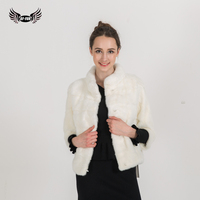 BFFUR Customizable Real Mink Fur Coat Thick Warm Coat Winter Outwear White Color Women S Genuine