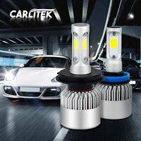 Car H8 H11 H7 LED Headlights 2X36W 6500K 8000LM 12V COB Bulbs 2sides Diodes White Automobiles