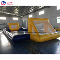 0.9mm PVC tarpaulin inflatable water soap football court,13*6m inflatable soccer field for outdoor sport games