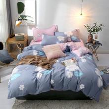 Комплект постельного белья из 4 предметов с рисунком ананаса
