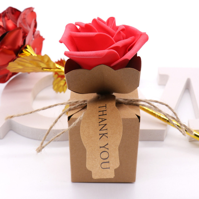10 stücke Romantische Kraft DIY Vintage papier Candy Boxen Geschenk ...