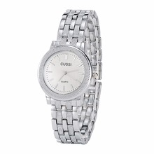 A213 CUSSI Fashion Casual Womens Watches Silver Ladies Dress Office Stlye Quartz Wristwatch reloj mujer Bracelet Watch