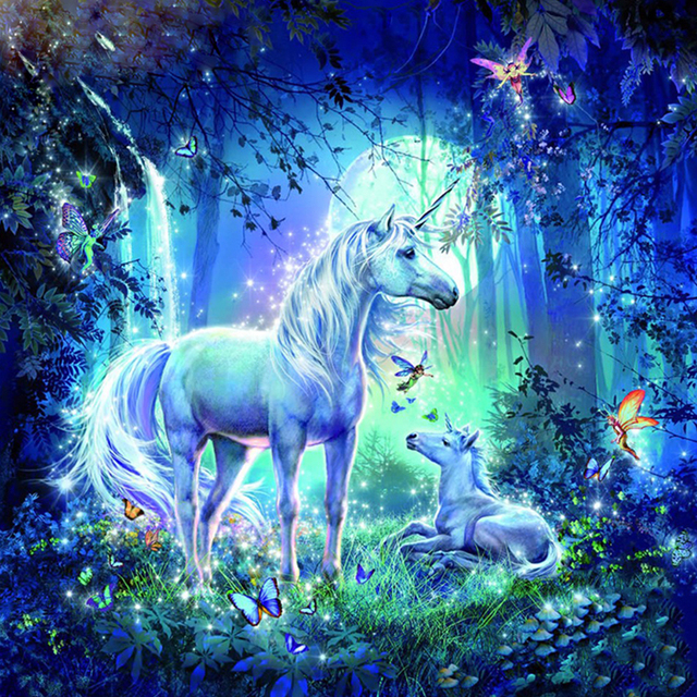Unicorns in Forest