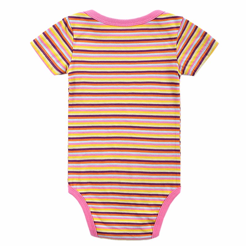5 Pcslot Retail Baby Girl Clothes Cartoon Baby Bodysuit Girl Boy 0-12M Infant Short Sleeve Creeper Baby Boy Girl Bebe Body Suit (4)