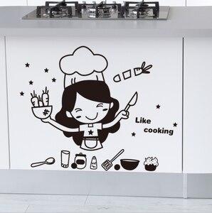 Image 5 - الإبداعية لطيف المطبخ الجدار ملصق للإزالة مقاوم للماء المطبخ الجدار ملصق ديكورات منزلية للمنتجات المنزلية
