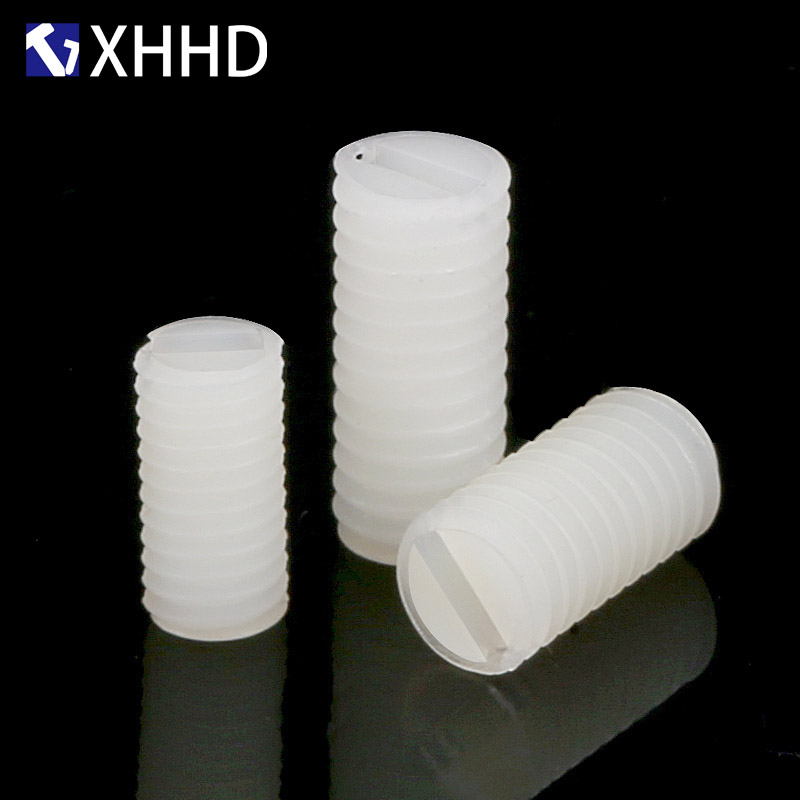 M8 White Metric Screw Plastic Metric Headless Screw Nylon Fixing Screw in Screws from Home Improvement